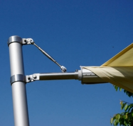 Sonnensegel elektrisch aufrollbar