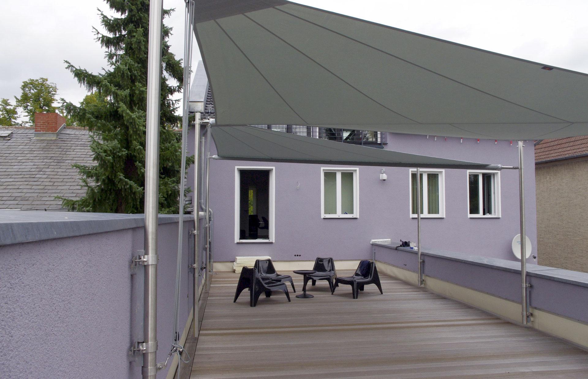 Sonnensegel Dachterrasse Hohmann Sonnenschutz