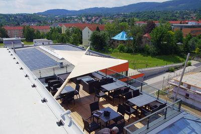Sonnensegel auf Dachterrasse