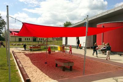 Sandkastensegel für Kindergarten in Karlshagen