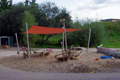 Sandkastensegel für Kindergarten in Görmin