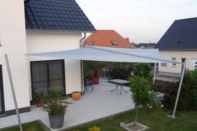 Sonnensegel für Freiterrasse in Chemnitz, Thüringen