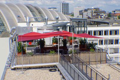 Sonnensegel auf Dachterrasse - Hotel Aletto Berlin