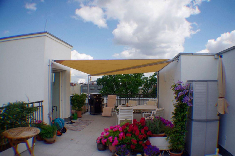 Faszinierend Sonnenschutzrollo Terrasse Sammlung Von Sonnensegel Als Sonnenschutz Für Die Dachterrasse