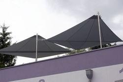 Sonnensegel elektrisch aufrolbar für Dachterrasse