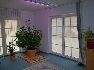 Zip-Screen Ansicht von innen, Steuerbüro Usedom